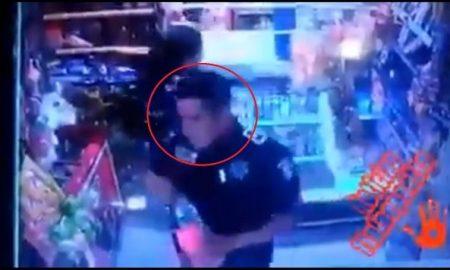 policia, robo, tienda, galletas