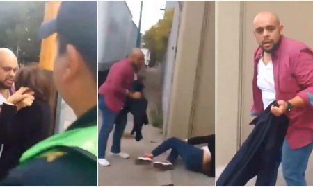 hombre, mujer, golpes, violencia, policia, cdmx