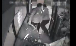 camion, hombre, asalto