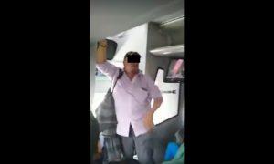 camion, acoso, mujer, hombre, pasajeros