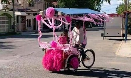 vendedor, triciclo, quinceañera, hija, coahuila