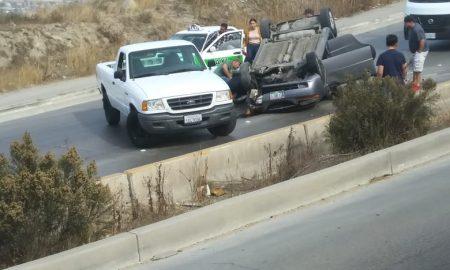 Volcadura, bulevar Teran Teran, accidente automovilístico,