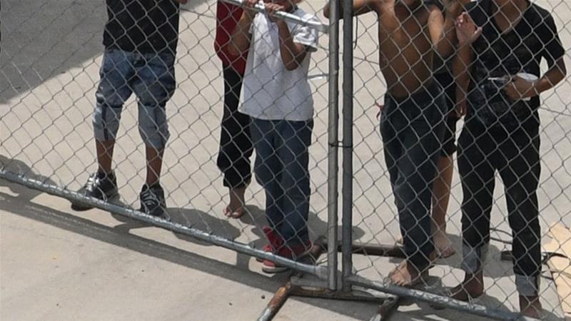 niños, EEUU, migrantes, detención