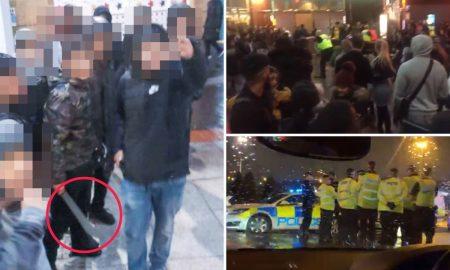machete, Reino Unido, pelea, Frozen, viral