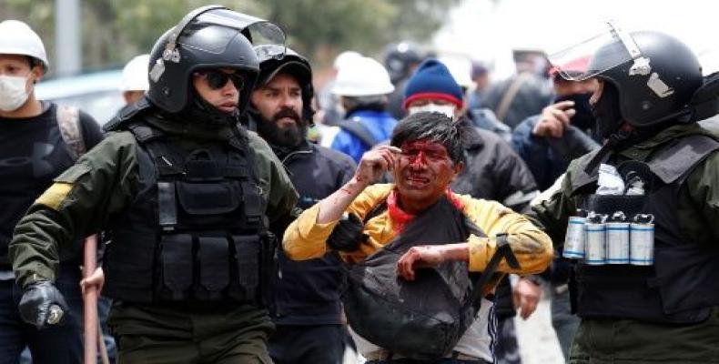 Bolivia, protestas, manifestantes, Jeanine Áñez