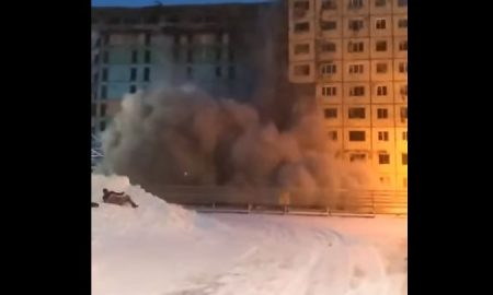 niños, Rusia, video, viral, derrumbe, edificio