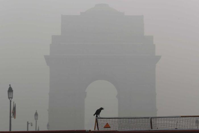 Nueva Dehli, India, contaminación, aire