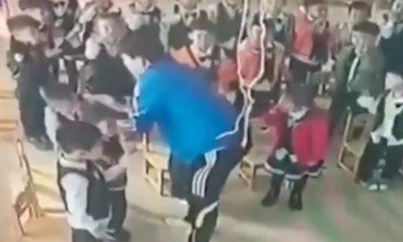 maestro, niños, china, jardin de niños