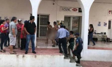 delincuentes, delincuentes desnudos, Chiapas