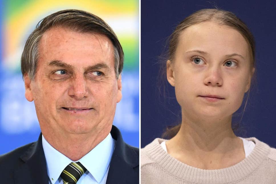 Bolsonaro, Brasil, Greta Thunberg, activismo, calentamiento global