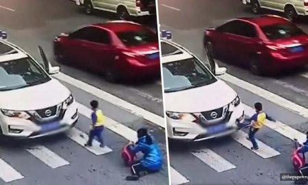 China, atropellamiento, niño, hijo, madre, viral