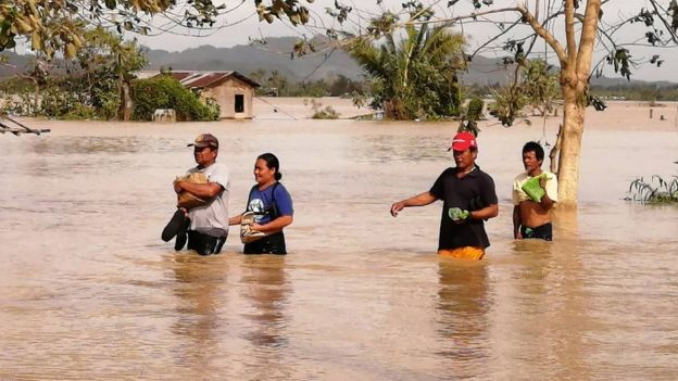 tifón,tormenta, Filipinas, lluvias