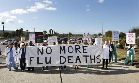 vacunas, San Diego, migrantes, médicos, protestas