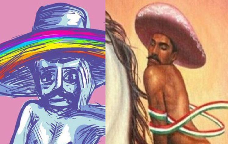 Zapata, pintura, redes sociales, Twitter, viral