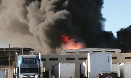 incendio,fábrica,Delegación La Mesa