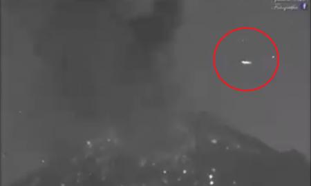 OVNI, Popocatépetl, video, erupción, México