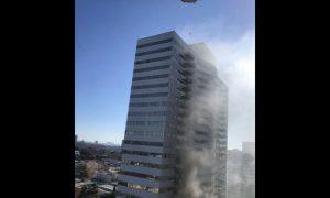 edificio, incendio, Los Ángeles, llamas, siniestro, EEUU