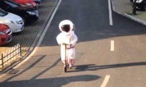 coronavirus, disfraz, astronauta, protección, china,