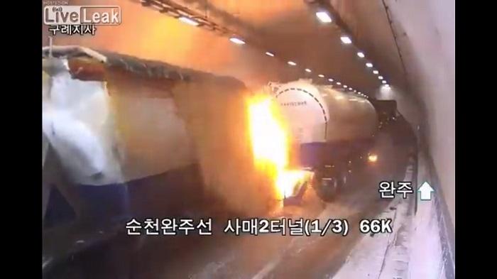 Video, Carambola, Choque, Túnel, Korea del Sur