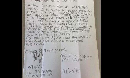 Carta, Niño, Ricky Martin, Mamá, Cáncer