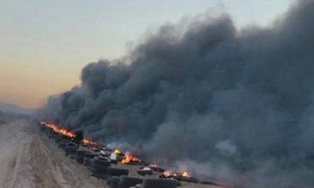 quema, llantas, basura, incendio, cultivos, bajas temperaturas, Sonora
