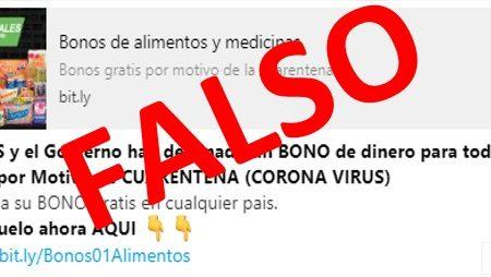 formulario, fake, coronavirus