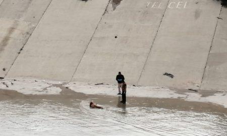 mujer sin vida, canal del Rio Tijuana, huellas de violencia,