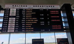 vuelos, cancelados, coronavirus, Tijuana, frontera
