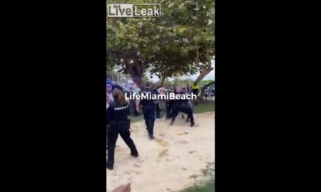 miami, playa, policia, personas, cuarentena, coronavirus
