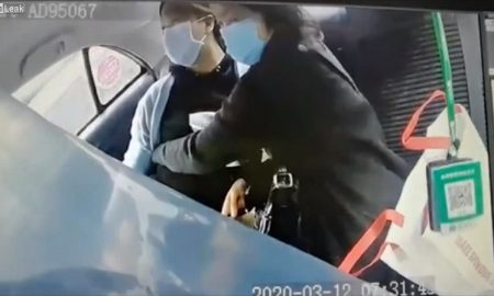 mujer, embarazo, luz, taxi, China, coronavirus
