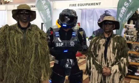 policia, exhibicion, master chief, halo, video, viral