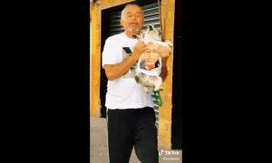 Señor, Perro, mascota, no quiero perros en esta casa, video, viral