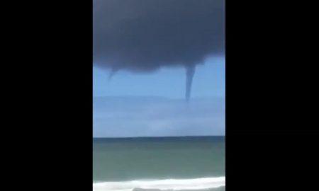 Playas de Tijuana, Tijuana, Playa, tornado, huracán, mar, video, viral,