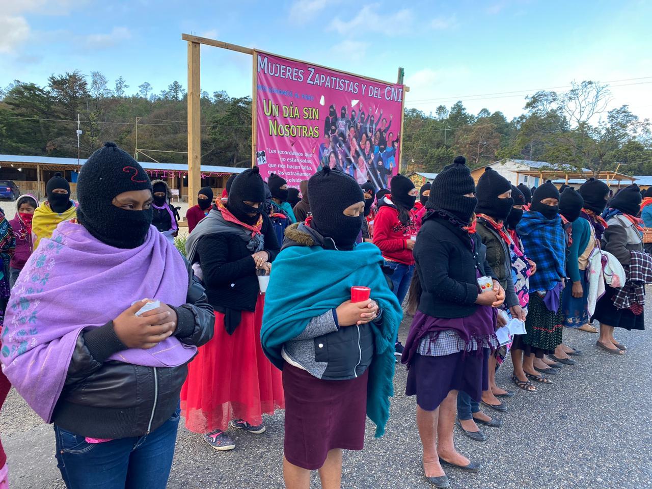 Zapatismo, Zapatistas, Chiapas, 9M, feminismo, feminicidios, violencia contra la mujer, 8M