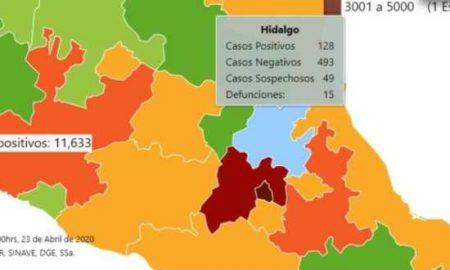 Hidalgo, contagios, covid-19, pandemia, Ssa, salud