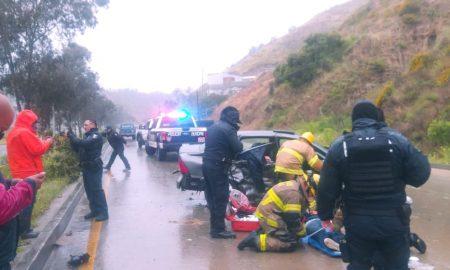 lesionados, accidente de tránsito, bulevar rosas magallon