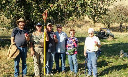 Jubilados, veteranos, granjeros, granjas, manzanas, reedescubrir