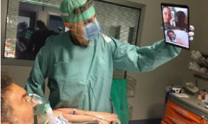 pacientes, coronavirúltimo adiós, videollamada