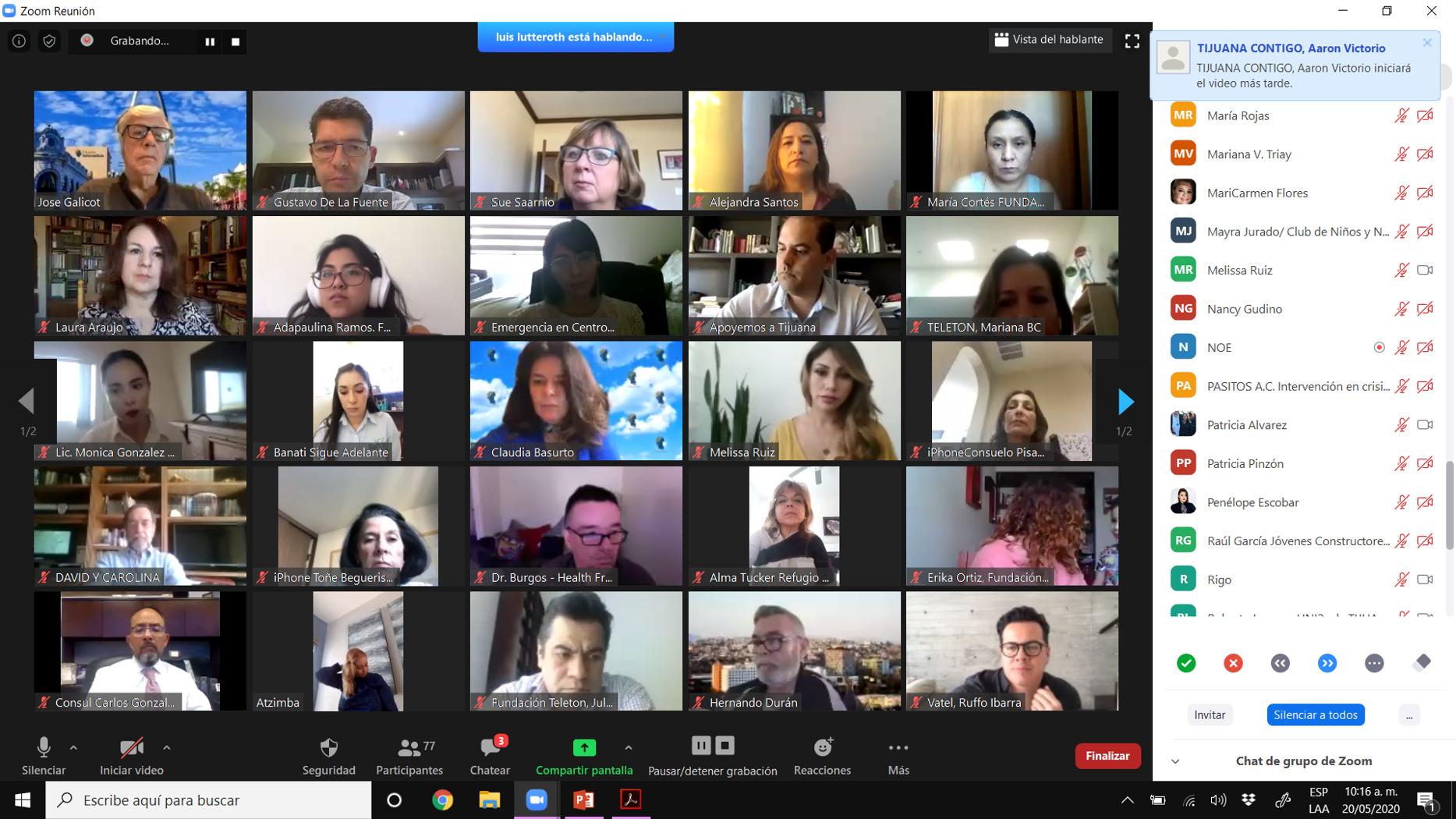 asociaciones civiles, tijuana innovadora, foro virtual Red X