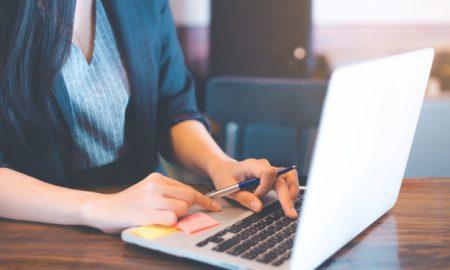 computadora, en línea, cursos, periodismo