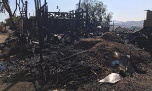 incendio, familias, hogar