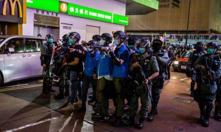Hong Kong, violenta, manifestantes, Ley de Seguridad, China, represión, arresto