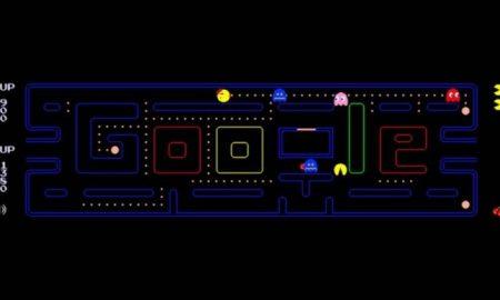 Google doodle, google, juego, online, Pac-Man