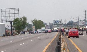 autopista, México-Puebla, inseguridad, manifestación protesta