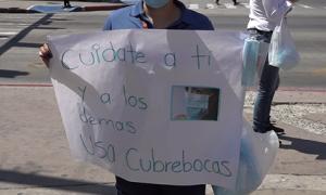 Cubre bocas, Secretaría de Salud de Baja California, vacuna,