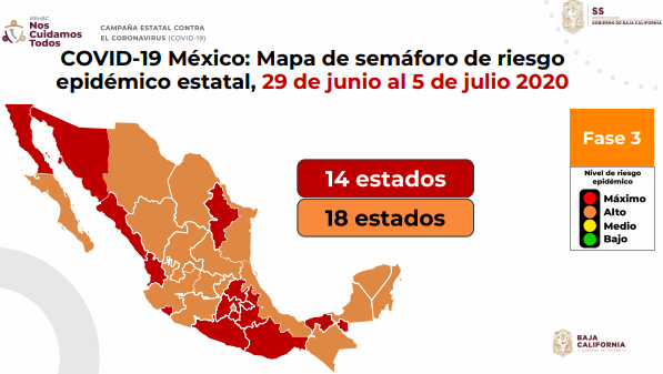 Baja California, semáforo, rojo,