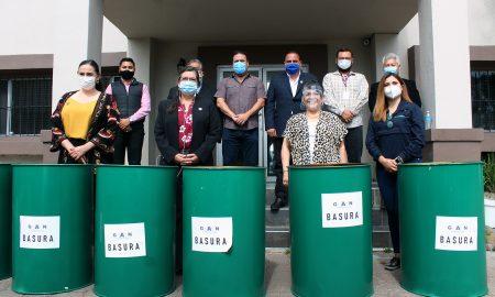 tambos basura, entrega, donaciones, AIMO