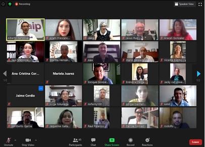 red social local socialización, integrantes, primer, reunión