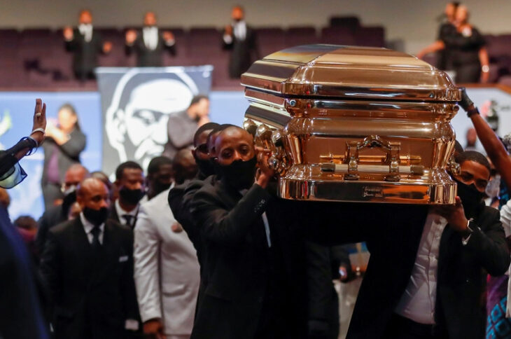 sepultar, George Floyd, entierro, ceremonia religiosa, homenaje, antiracismo, EEUU