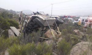 volcadura, SEDENA, militares, accidente, vehículo, muertes, delegación Los Pinos, Tijuana